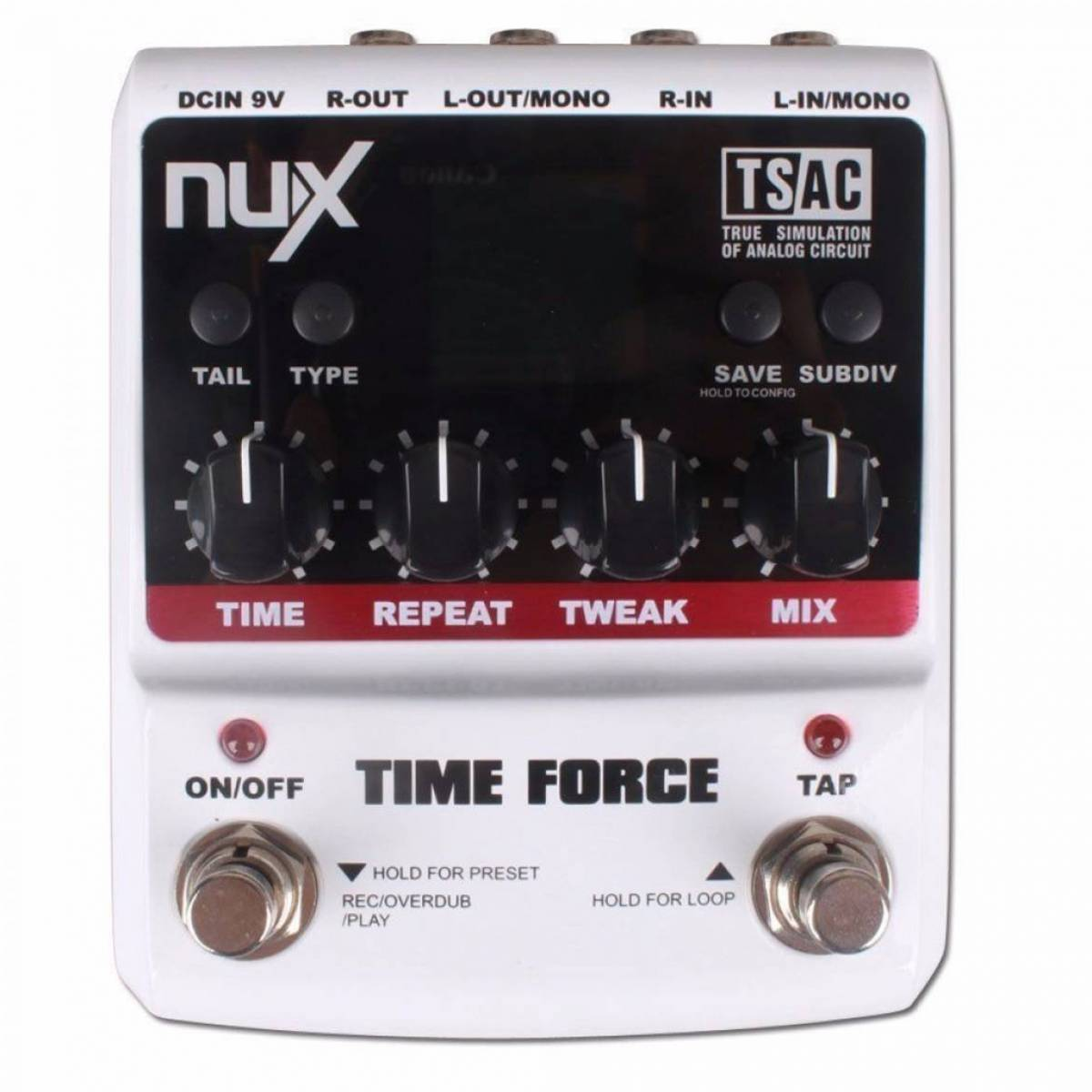 Pedal de Guitarra Nux Time Force Delay
