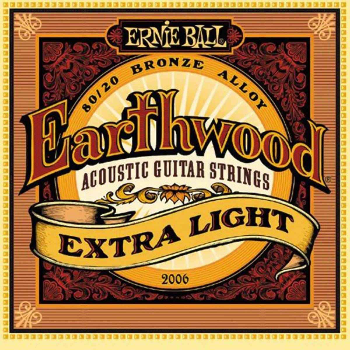 Encordoamento para Guitarra Ernie Ball 2006 Extra Light .010 .050