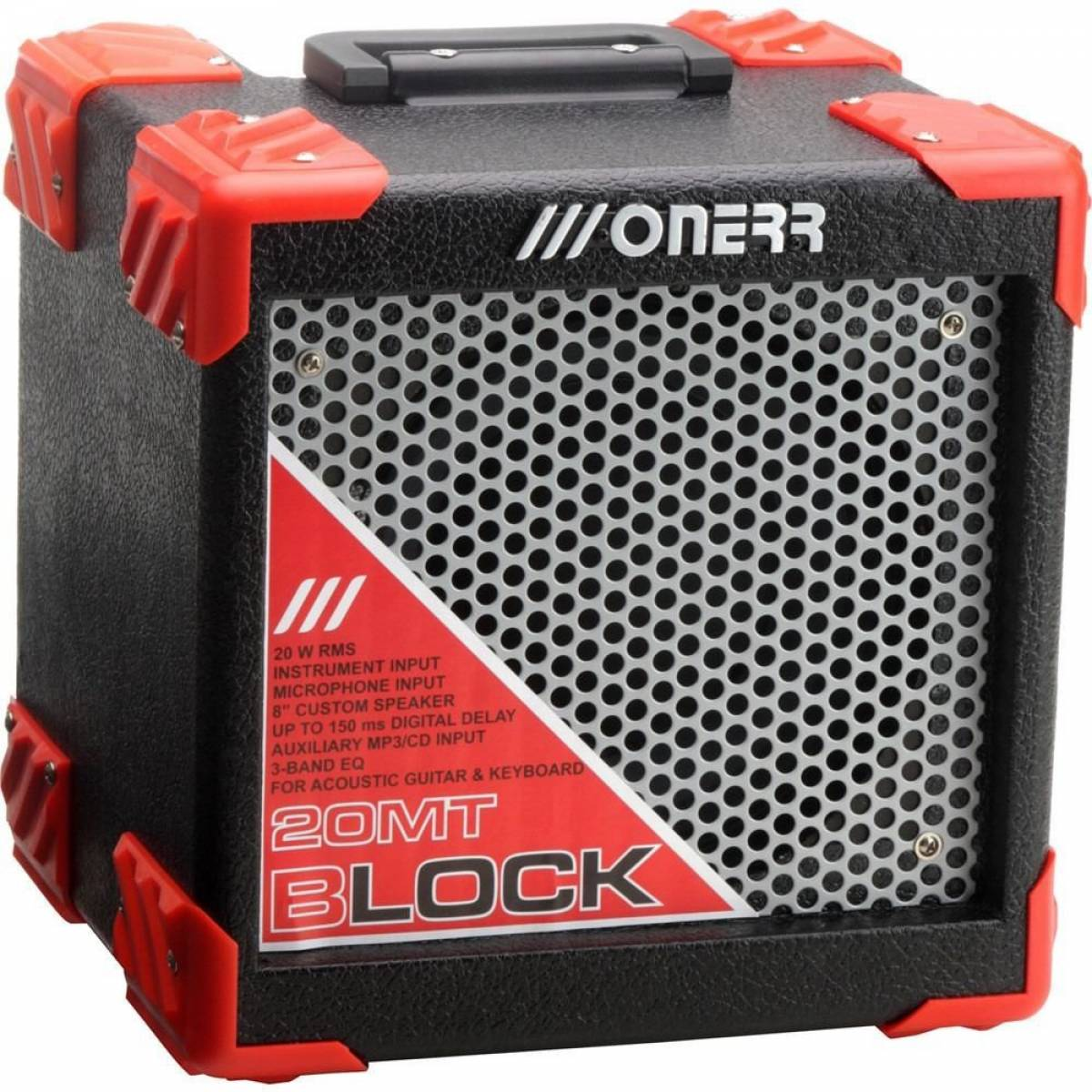 Amplificador Onerr Guitarra Block 20MT 20 Watts