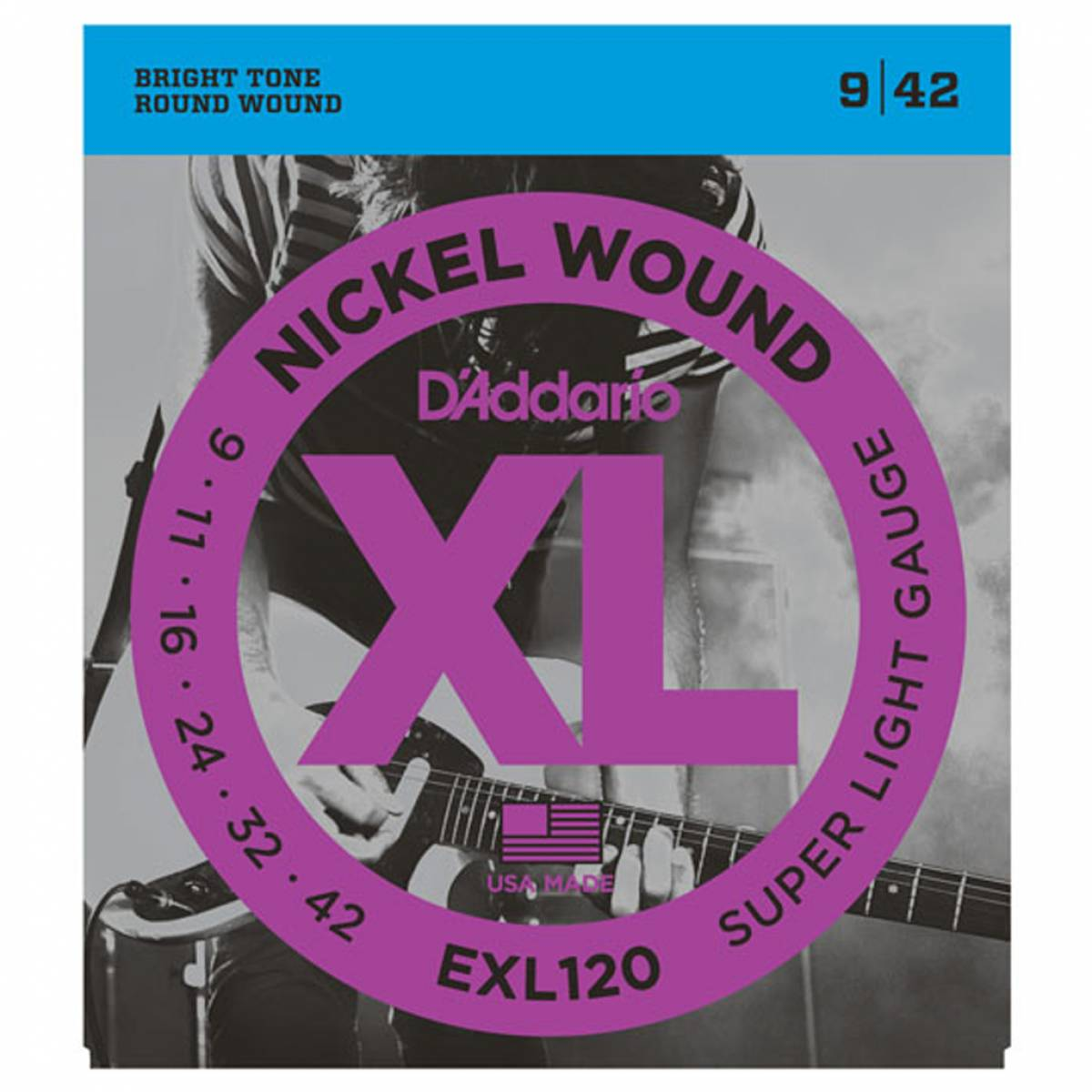 Corda para Guitarra Encordoamento D`Addario EXL120-B S. Light .09