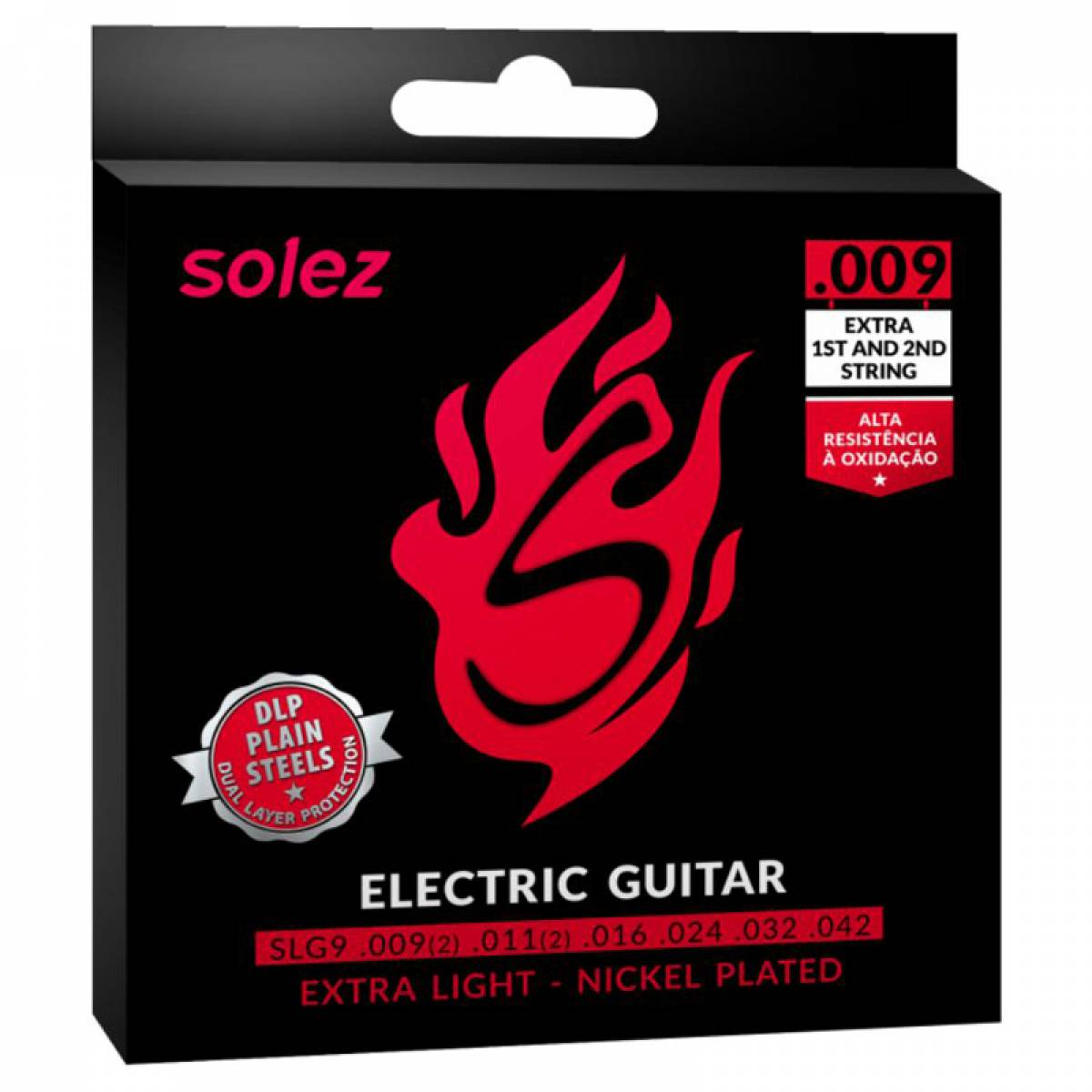 Encordoamento para Guitarra Solez .009 SLG9 EXL Nickel