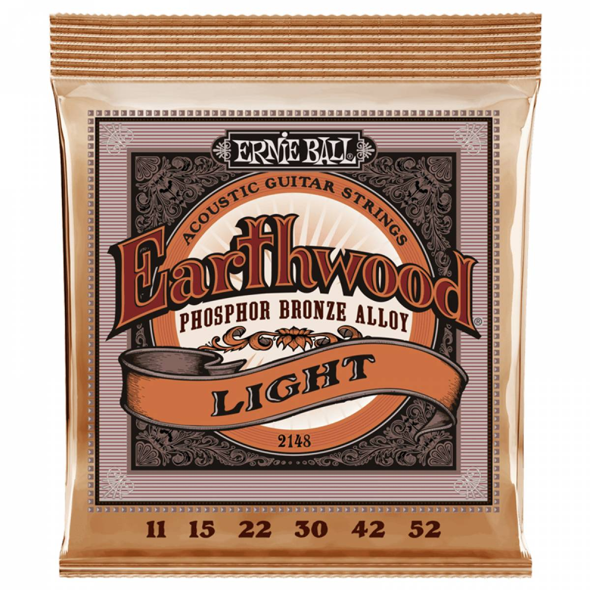 Encordoamento para Violão Ernie Ball 2148 0.11 Earthwood Light