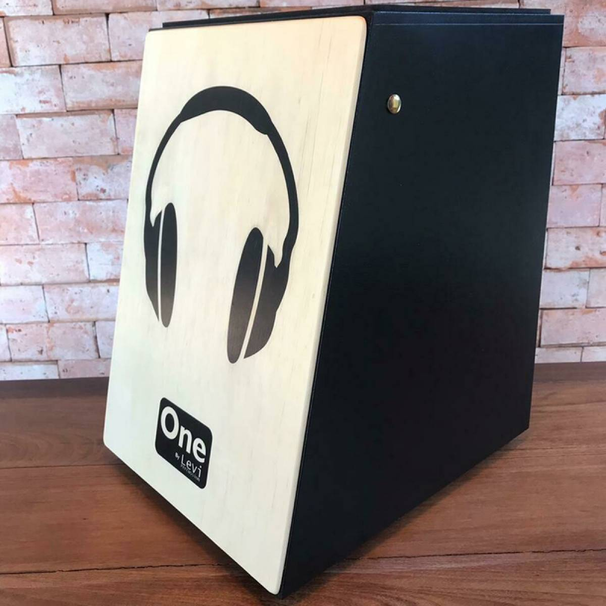 Cajon Levi Percussion Traditional One Headset Acústico