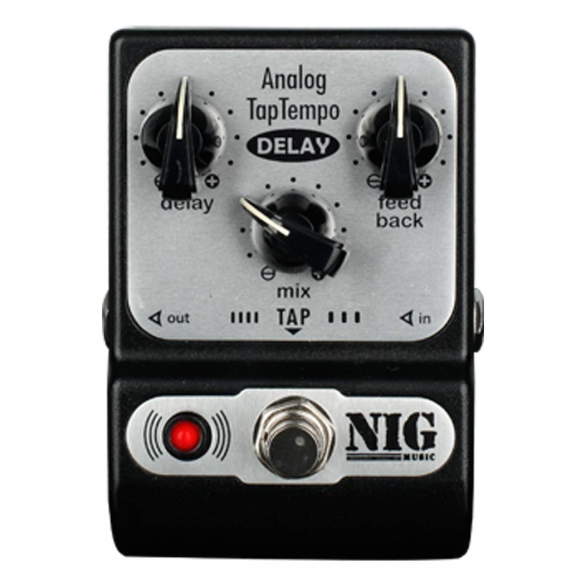 Pedal Delay Nig Analog TapTempo PADT